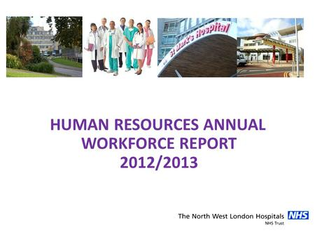 HUMAN RESOURCES ANNUAL WORKFORCE REPORT 2012/2013.