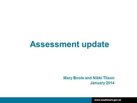 Mary Boole and Nikki Tilson January 2014