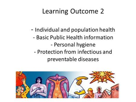© RSPH 2008 Learning Outcome 2 - Individual and population health - Basic Public Health information - Personal hygiene - Protection from infectious and.