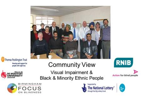 Community View Visual Impairment & Black & Minority Ethnic People.
