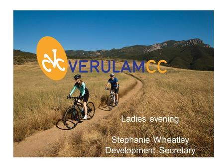 Ladies evening Stephanie Wheatley Development Secretary.