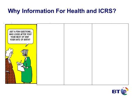 Why Information For Health and ICRS?. New Landscape in England LSP NISP N3 NASP EBS NASP NCRS.