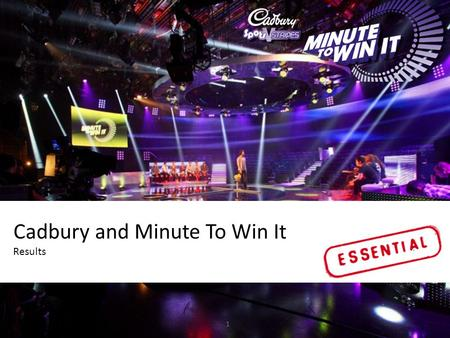 Click to edit Master title style 1 Cadbury and Minute To Win It Results.