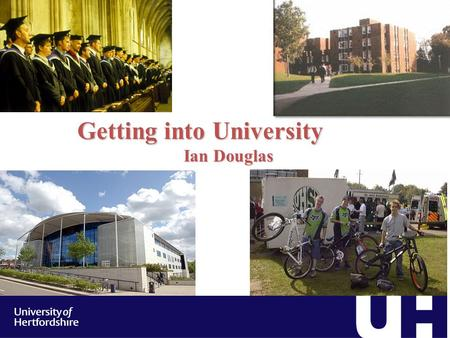 Getting into University