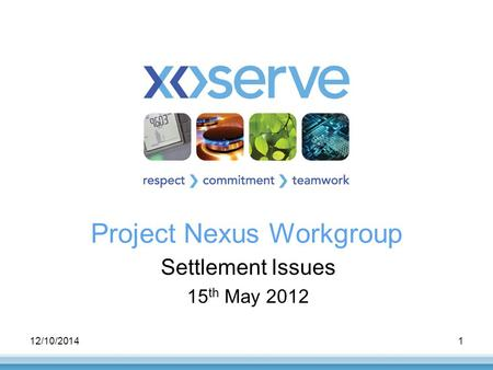 12/10/20141 Project Nexus Workgroup Settlement Issues 15 th May 2012.