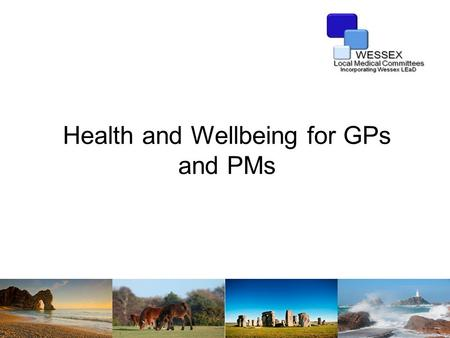 Health and Wellbeing for GPs and PMs. Stress? What do you mean by stress?