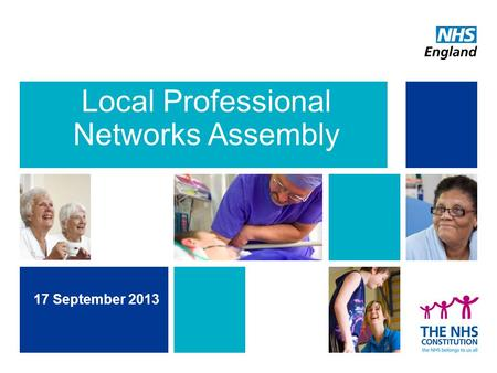 Local Professional Networks Assembly 17 September 2013.