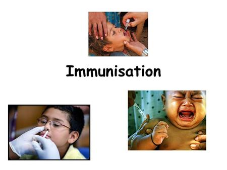 Immunisation. 1796 If you understand basic immunology you can explain... How vaccines work and why vaccine failures occur Adverse events and their.