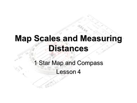 Map Scales and Measuring Distances