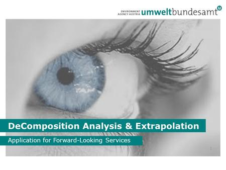 DeComposition Analysis & Extrapolation Application for Forward-Looking Services 1.