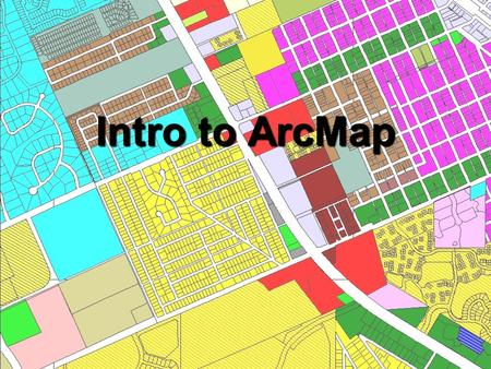 Intro to ArcMap. What is ArcMap? Accessing ArcMap Data used by ArcMap SymbologyLabelsGraphics Printing/Exporting maps.