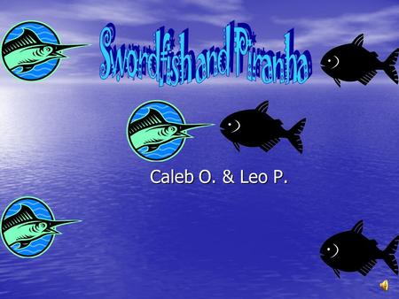 Swordfish and Piranha Caleb O. & Leo P..