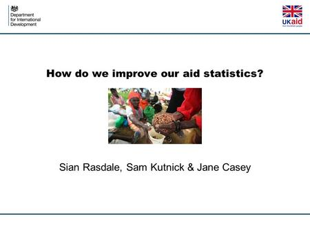 How do we improve our aid statistics?