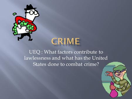 The issue of the increase of crime in the united states