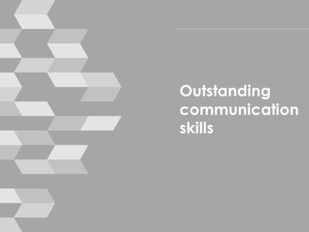 Outstanding communication skills. Housekeeping › mobile phones › break times › toilets › emergencies © smallprint 2.