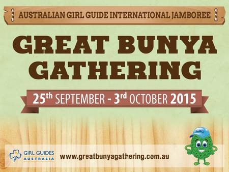 Check out www.greatbunyagathering.com.au for the criteria for the Pre-Camp Challenge badge – can also be cross credited with trefoil 1 and 2.www.greatbunyagathering.com.au.