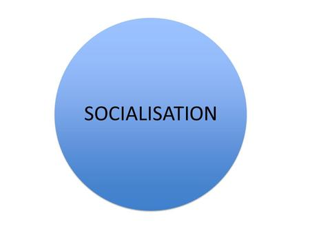 SOCIALISATION. Socialisation Part of every society Different in each society Each has own values, attitudes and beliefs.