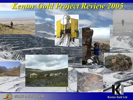 Kentor Gold Project Review 2005. Uzunbulak Cu Au Porphyry – Cu soils on Magnetics Kazakstan Kyrgyzstan > 1000 ppm > 500 ppm Soil Cu sediment contact.