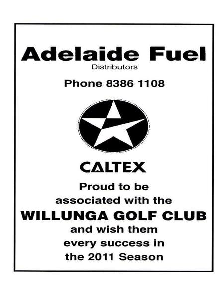 Entry form Willunga Golf Club Inc PO Box 186 WILLUNGA SA 5172 Saturday 8 th October – Mens Open Full Name ______________________ Hcp _____ Phone No.