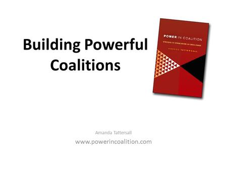 Building Powerful Coalitions Amanda Tattersall www.powerincoalition.com.