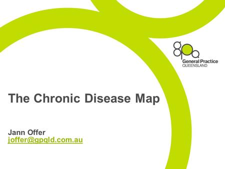 The Chronic Disease Map Jann Offer