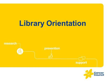 Library Orientation. Welcome to the Cancer Council Library.