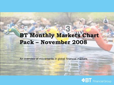 BT Monthly Markets Chart Pack – November 2008 An overview of movements in global financial markets.