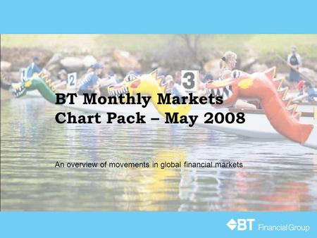 BT Monthly Markets Chart Pack – May 2008 An overview of movements in global financial markets.