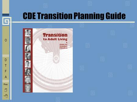 CDE Transition Planning Guide E C O L V D T F A Free  