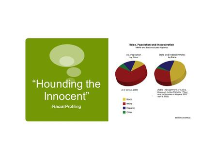 """Hounding the Innocent"" Racial Profiling. Standards and Objectives Standards  1.0 Word Analysis, Fluency, and Systematic Vocabulary Development Students."