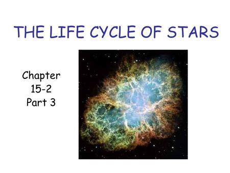 THE LIFE CYCLE OF STARS Chapter 15-2 Part 3. The Aging of Massive Stars Massive stars use their hydrogen much faster than stars like the sun do. Since.