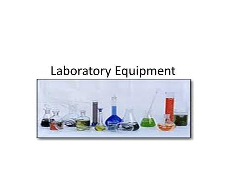 Laboratory Equipment. Triple beam balance Beaker tongs.