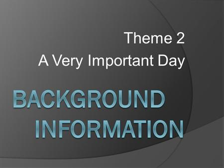 Theme 2 A Very Important Day. \ New York  abc/video?id=7534525.