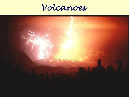 Volcanoes What is a volcano? A volcano is a mountain that forms when molten rock erupts or flows as lava from an opening in Earth's surface.
