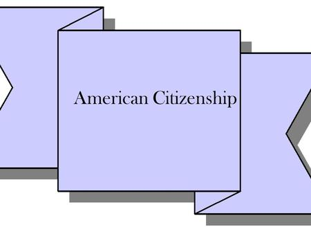 American Citizenship. 14 th Amendment All persons born or naturalized in the United States, and subject to the jurisdiction thereof, are citizens of the.