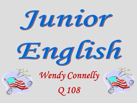 Wendy Connelly Q 108. Personal Background: ~ Technology / Software Background ~ B.A.: English major, History minor St. Mary's College ~ M.A.: Liberal.