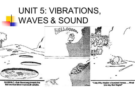 UNIT 5: VIBRATIONS, WAVES & SOUND. SIMPLE HARMONIC MOTION Position vs. time graph for an object shows how oscillations can create waves.