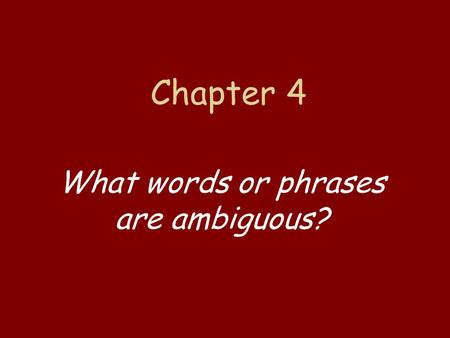 chapter 4 mistakes in reasoning the Chapter notes edit 0 20 4 make mistakes okay chapter 7: and polished presentations that convey a clear and distinct perspective, demonstrate solid reasoning, and combine traditional rhetorical strategies of narration, exposition.