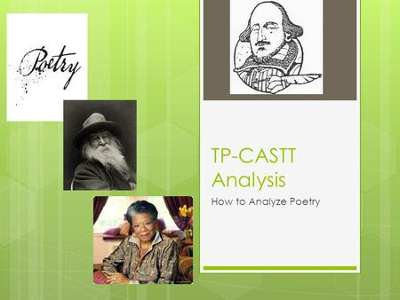 TP-CASTT Analysis How to Analyze Poetry.