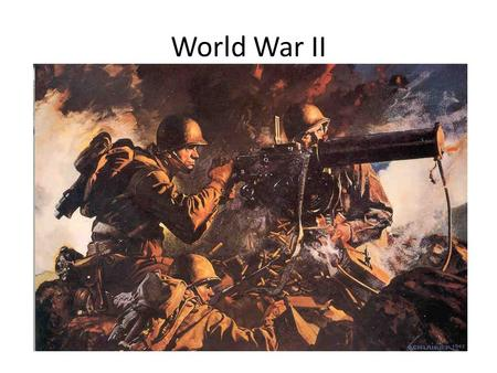 World War II. Blitzkrieg Germans referred to a Schwerpunkt = focal point or point of maximum effort Ground, mechanized & tactical air forces concentrate.