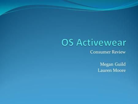 Consumer Review Megan Guild Lauren Moore. Reading List: Our Thoughts Positives Negatives Clearly Defines Web hosting and Web Content Management Organized.
