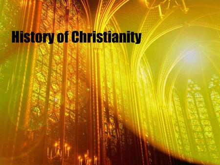 History of Christianity. Christian history begins with Jesus of Nazareth, a Jew who was born in a small corner of the Roman Empire. Little is known of.