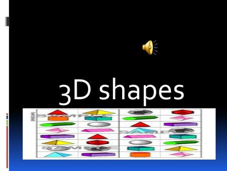 3D shapes cylinder A cylinder has 0 vertices, 0 edges and 2 faces.