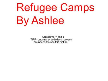 Refugee Camps By Ashlee. 1 1 Some of the difficulties would be having not enough food or water, also you would be scared to go to the latrine in case.