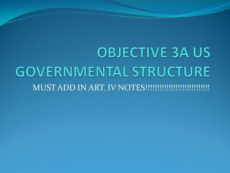 MUST ADD IN ART. IV NOTES!!!!!!!!!!!!!!!!!!!!!!!!!!!!