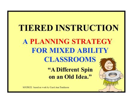 how to differentiate instruction in mixed ability classrooms pdf