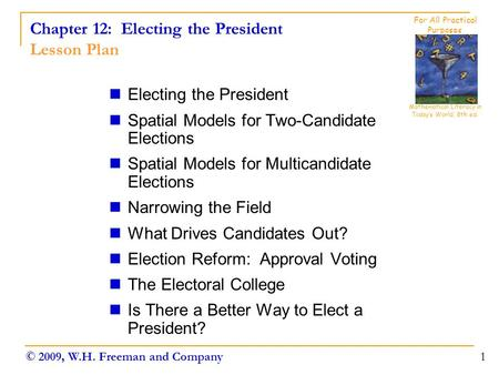Chapter 12: Electing the President Lesson Plan