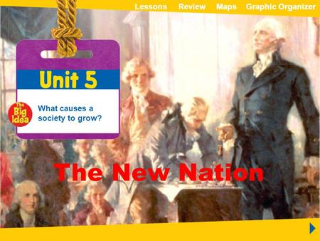 ReviewLessonsMapsGraphic OrganizerMapsGraphic Organizer Unit 5 The New Nation The New Nation What causes a society to grow? ReviewLessonsMapsGraphic OrganizerMapsGraphic.