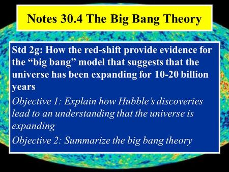 a look at how the universe began through the big bang theory When we look up at a starry sky on a clear night, we can't help but ask ourselves: where did it all come from how did it all begin what's the origin of the universe modern cosmologists.