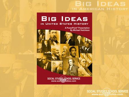 "What Is a ""Big Idea""? A ""historical motivator"" Offers a solution to a pressing problem A completely original concept or a novel and innovative way to."